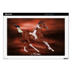 Galloping Bay and White Paint Horse Foal Skins For Laptops - horse animal horses riding freedom