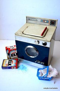 70s Brinquedo Antigo Mini Lavadora de Roupas Neusamatic