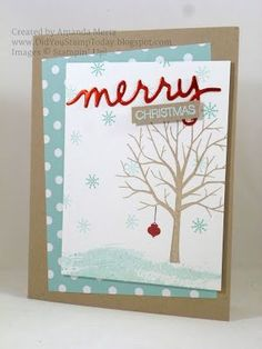 Did You Stamp Today?: Snowy Tree - Fab Friday 73 - Stampin' Up! Sheltering Tree