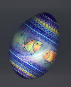 decorative pysanky turkey egg ~ by artist Mark Malachowski