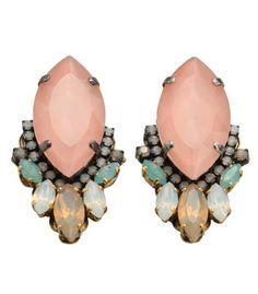 CHIC STYLE l Erickson Beamon Swarovski Crystal Cluster Earrings l jewelry http://shop.harpersbazaar.com/new-arrivals/swarovski-crystal-cluster-earrings