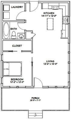 The Plan, How To Plan, Small House Floor Plans, Cabin Floor Plans, Square Floor Plans, Br House, Tiny House Living, Cottage House, Living Room