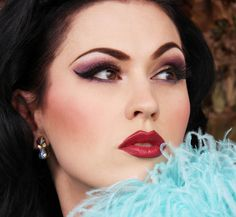 Finnish burlesque star LouLou D'vil launched her own lipstick shade, vampy cold red with creamy texture