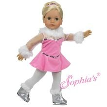 """Ice skater costume that fits 18"""" american girl dolls. Use special discount code PIN10"""
