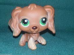 Littlest Pet Shop Brown Toffee Tan Green Eyes Cocker Spaniel 252 Hasbro 2005 #Hasbro