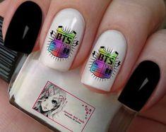 Gel Nail Art, Acrylic Nails, K Pop Nails, Army Nails, Band Nails, Manicure, Korean Makeup, I Love Bts, Nail Inspo