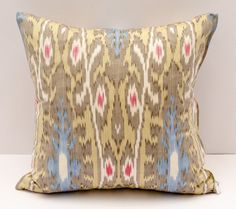 15x15 ikat cushion cover cushion case pillow cover by SilkWay