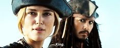 """My favorite Disney princess is Elizabeth Swann because rather than becoming a princess, she was like """"nah, fuck that"""" and became a king instead."""