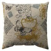 Found it at Wayfair - Butterfly Scroll Cotton Pillow