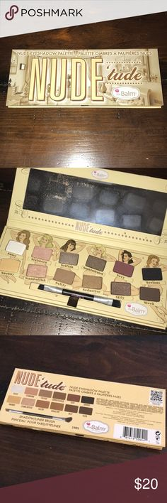 The Balm Nude Eyeshadow Palette The Balm Nude Eyeshadow Palette, lightly used basically new.  Blends beautifully, just don't wear a lot of eyeshadow anymore and hoping it will go to good use with someone else! the balm cosmetics Makeup Eyeshadow