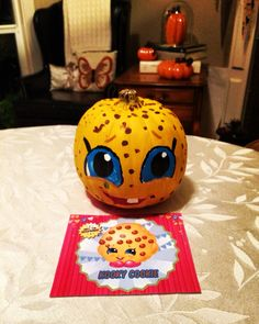 shopkins kookycookie shopkinspumpkin shopkins pumpkin painting done by a six year old for halloween pumpkinshalloween decorationshalloween - How To Decorate A Pumpkin For Halloween