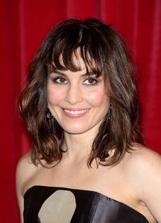 Medium Length Hairstyles With Bangs | Noomi Rapace Medium Wavy Cut with Bangs - Shoulder Length Hairstyles ...