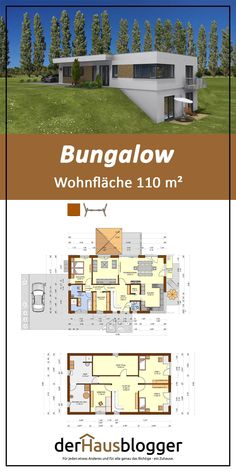 With this bungalow on 110 m² a couple has fulfilled their dream of own bungalow. Since they rented a Dream House Plans, Modern House Plans, Small House Plans, My Dream Home, Bungalows, House Built Into Hillside, Houses On Slopes, Small Cottage Homes, Underground Homes