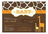 Invitations--giraffes are so cute!
