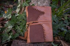 Autumn Journal, Rustic Leather Medieval Journal, Aged Paper, Vintage Brown Leather Journal, Soft Cover Journal, by ExSapientia on Etsy