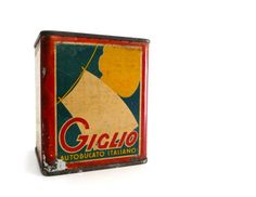 Vitage Laundry Detergent | RESERVED - Vintage Italian Laundry Soap Tin Box - Red, Blue, Yellow ...