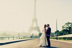 Olga and Kam's 2 guest $7,000 (including dress and suit) Paris Elopement. See their beautiful photography by Tala Nicole @intimatewedding #pariswedding #elopement