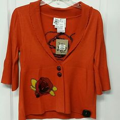 Ivy jane cardigan Dark orange ivy jane Tops