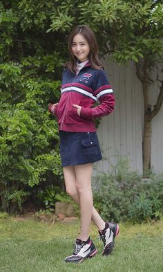 FILA(フィラ)公式サイトです。佐々木希コーディネートコレクション、ショッピングサイトオープン!! Fashion Pants, Girl Fashion, Fashion Outfits, Womens Fashion, Tennis Wear, Asian Model Girl, Best Photo Poses, Japan Girl, Asian Beauty