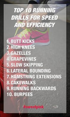 Top 10 Running Drills for speed and efficiency.