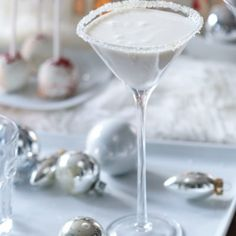 White Christmas Martini - holiday cocktail martini recipe