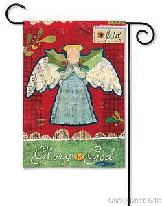 BreezeArt Garden Flag Glory to God 12.5 x 18 in. Christmas angel NEW