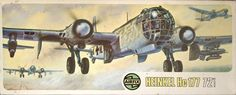 Airfix German Heavy Bomber Heinkel He 177 in Scale Model Kit. Plastic Model Kits, Plastic Models, Airfix Models, Airfix Kits, Old Models, Aviation Art, Model Airplanes, Toy Soldiers, Military Art