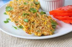When a high five is called for - vegan corn gram flour fritters!