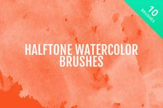 Check out Halftone Watercolor Brushes by Medialoot on Creative Market