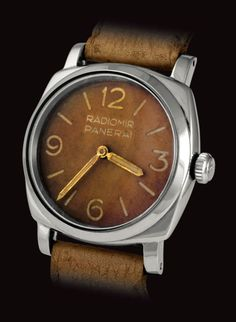 Vintage Panerai Ref. 6152-1, with 8MM Rolex Brevet crown