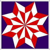 Clinton County Barn Quilt Trail - I like this square and there are over 20 more… Barn Quilt Designs, Barn Quilt Patterns, Quilting Designs, Clinton County, Star Quilts, Quilt Blocks, Painted Barn Quilts, Barn Wood Crafts, Pinwheel Quilt