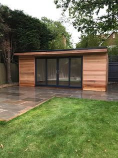 Backyard Office, Backyard Studio, Backyard Pool Designs, Backyard Sheds, Backyard Patio, Outdoor Office, Garden Home Office, Summer House Garden, Garden Bar