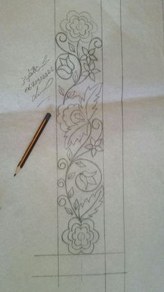 Border Embroidery Designs, Quilting Designs, Embroidery Patterns, Cross Stitch Patterns, Embroidery Works, Hand Embroidery Stitches, Beaded Embroidery, Elementary Drawing, Wreath Drawing