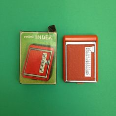 Miniature Mini Telephone Dial Index Address Phone Book in Orange Boxed Eagle Brand 60s 1960s Retro Office Kitsch Travel Size Mid Century by TheFidorium on Etsy