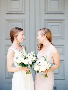 Big Love Wedding Design, Toronto Wedding, Boehmer, garden rose, anemone bouquet, blush bridesmaid