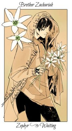 Brother Zachariah ~ The Mortal Instruments flower cards by Cassandra Jean