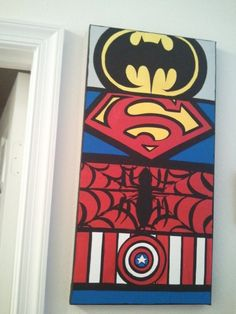 12 x 24 Canvas Wall Art The Superheros Comic by SaltyInspirations, $28.00