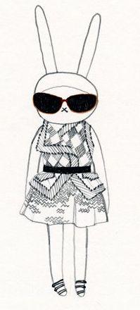 Fifi Lapin wears Proenza Schouler