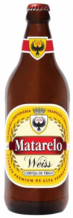 Cerveja Matarelo Weiss, estilo German Weizen, produzida por Cervejaria Santamate, Brasil. 5% ABV de álcool.