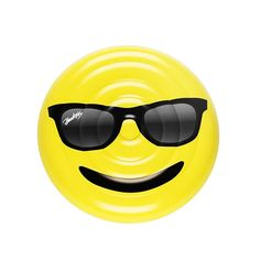 Bring the cool to the pool with this Shades Emoji Floatie from Floatie Kings! Keeping it large with 5 feet wide there is plenty of room for you to stretch out under the sun. These are the only Shades
