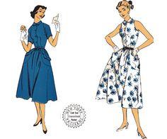 50s Peter Pan Collar Full Skirt  Dress by allthepreciousthings, $22.00