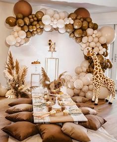 Deco Baby Shower, Shower Party, Baby Shower Parties, Baby Shower Themes, Baby Boy Shower, Baby Shower Balloons, Baby Shower Safari, Baby Showers, Safari Theme Party
