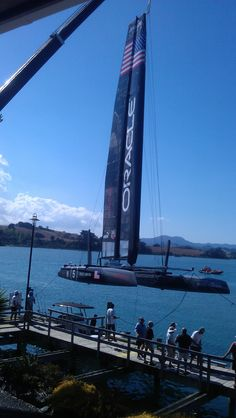 Oracle being tested at Sandspit in preparation for America's Cup being held in San Francisco  #New Zealand #matakana #America's Cup