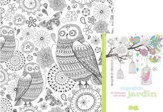 """Coloriage """"Inspiration Jardins"""" Coloriage extrait de l'ouvrage 50 coloriages anti-stress """"Inspiration Jardins"""" paru aux Editions Dessain et Tolra. Téléchargez ce coloriage gratuit en cliquant ici : coloriages Inspiration Jardins"""