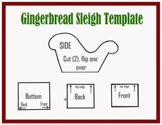 gingerbread house template Gingerbread Sleigh Tutorial and Template Gingerbread House Icing, Homemade Gingerbread House, Halloween Gingerbread House, Gingerbread House Patterns, Cool Gingerbread Houses, Gingerbread Dough, Gingerbread House Parties, Spooky Halloween, Gingerbread Cookies