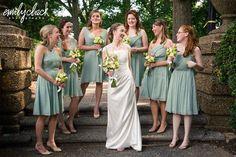 Pale green bridesmaid dresses