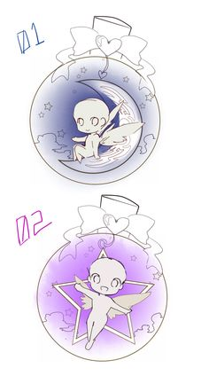 YCH chibi auction - Love Bottle by Toriichi