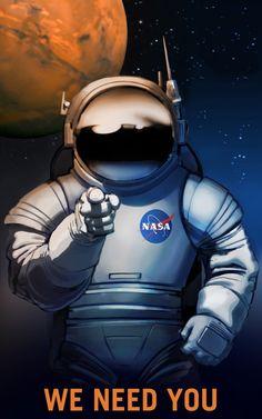 Retro hangulatú plakátokkal toboroznak a Marsra