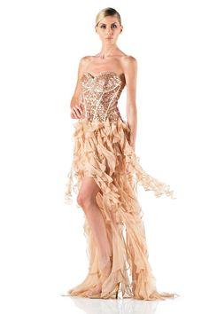#glamour #fashion #springsummer 2014 #woman #girl #cocktaildress  #partydress #dress #longdress #abitoelegante #gold #glitter #moda
