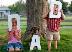 D – A – D letters with the kids for Dad @NoBiggie